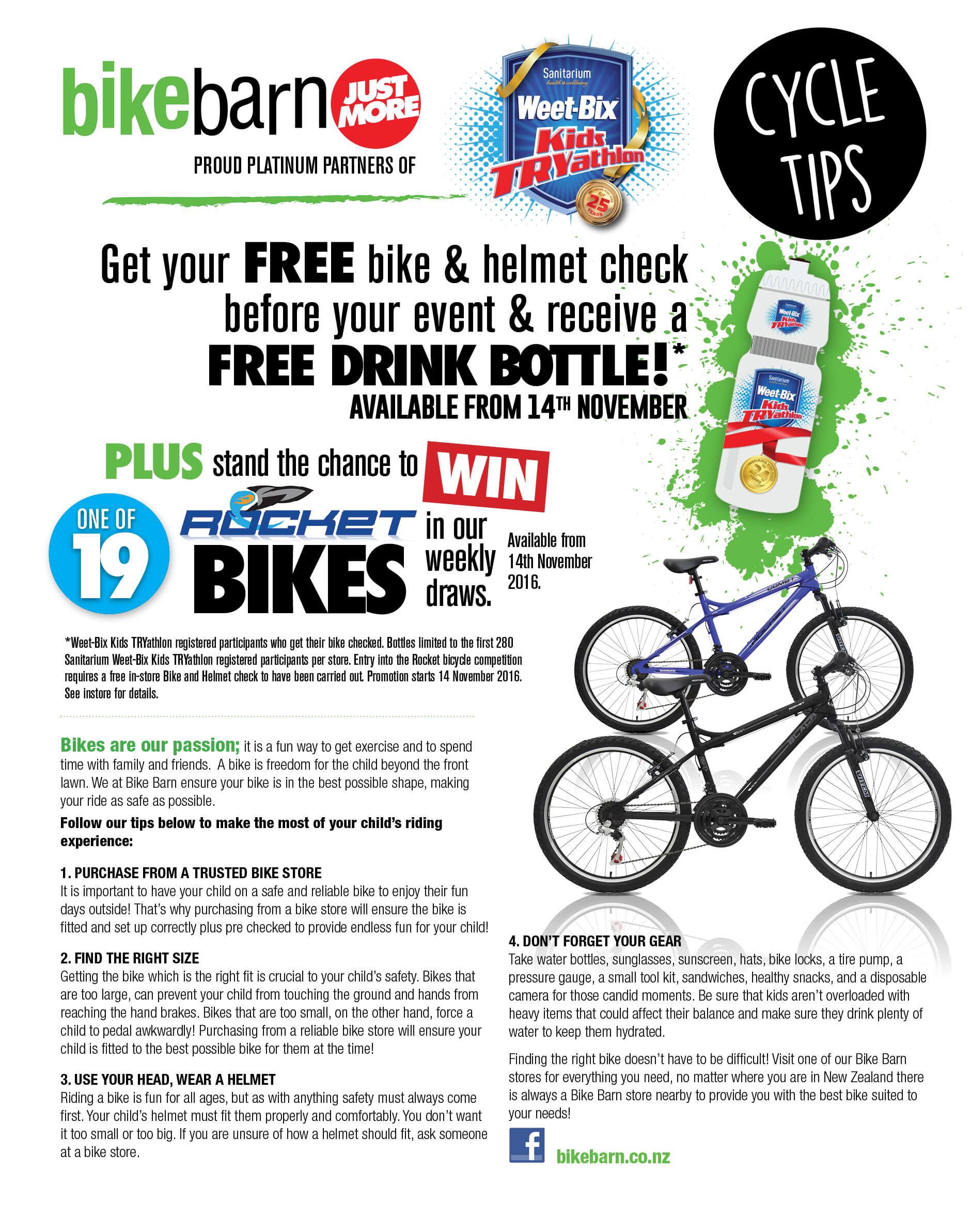 Bikebarn Cycling Tips Sanitarium Weet Bix Kids Tryathlon