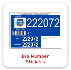 Bib Number Stickers